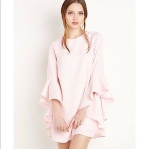 New Revival Pink Bell Sleeve Dress